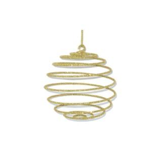 Boule spirale pailletée doré