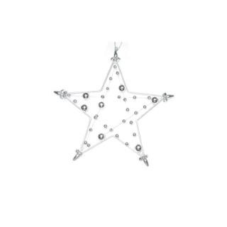 Etoile à suspendre  avec perles 15 cm