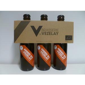 Bière Ambrée bio 3 x 25 cl VEZELAY