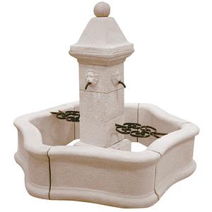 Fontaine centrale avec pompe - Provence