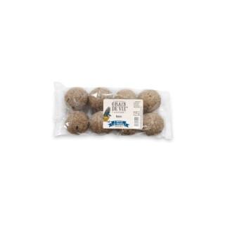 Boules de graisse pour oiseaux x 8 de 720 g