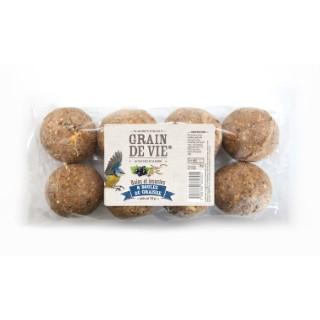 8 boules de graisse découverte - baies insectes 720 g