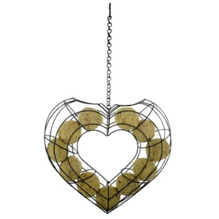 Mangeoire valentine pour boules de graisse en métal 222115