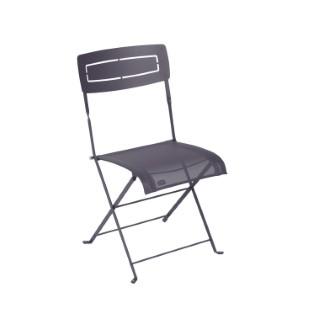Chaise pliante SLIM acier prune