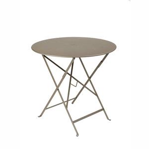 Table de jardin ronde pliante Bistro FERMOB muscade 77 x h 74 cm 222665