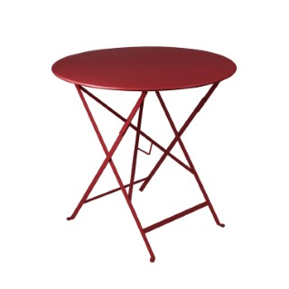 Table pliante ronde couleur Piment 77 x h 74 cm
