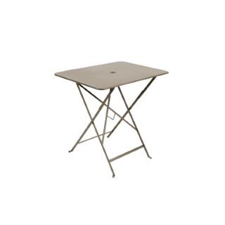 Table pliante en métal BISTRO couleur muscade L77xl57xh74 222669