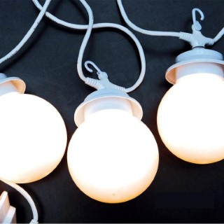 Guirlande lumineuse blanche LUMISKY 10 globes