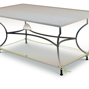 Housse protection table rectangulaire 4-6 personnes