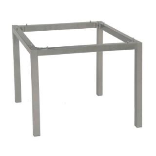 Pieds de table en aluminium coloris gris de 90 x 90 x 72 cm 222946