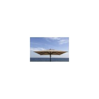 Parasol 3 x 4 m avec toile couleur taupe 223006