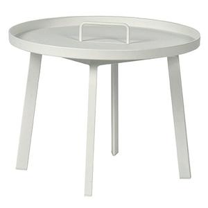 Table basse en teck blanc