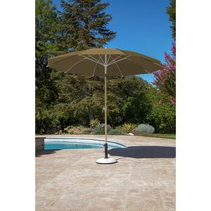 Parasol arc en ciel D 270 cm taupe