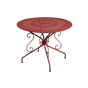 Table Montmartre Fermob en acier coloris piment Ø 96 cm 223799