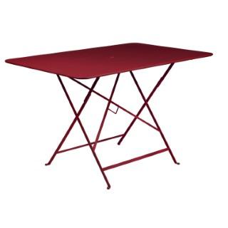 Grande Table pliante rectangulaire couleur Piment 117 x 77 x 74 cm