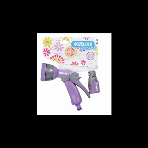 Set pistolet arrosoir + raccord lilas