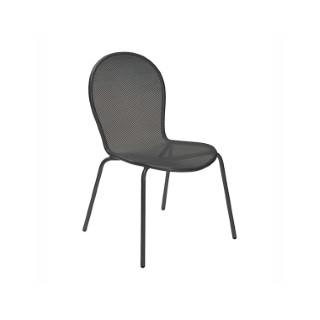 Chaise de jardin empilable Ronda EMU fer ancien