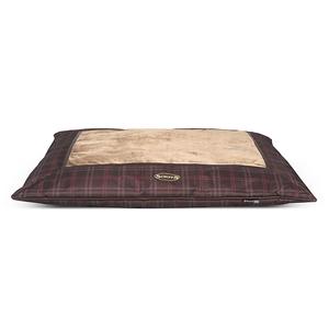 Coussin Scruffs Balmoral brun 100 x 70 cm