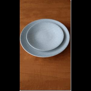 Assiette Dessert Chevron en grès
