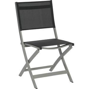 chaise pliante joe aluminium et textil ne noir tables et chaises de jardin balcon terrasse. Black Bedroom Furniture Sets. Home Design Ideas