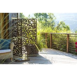 Panneau décoratif en métal panel N° 3, motifs feuillage, 60 x 150 cm 226055