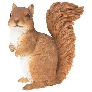 Statue de jardin écureuil debout 18,7 x 9,5 x 20 cm 226093