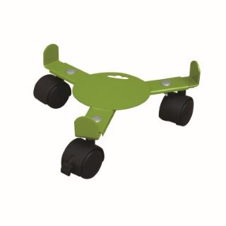 Support 3 roulettes extensible vert anis Extensible 27 à 37 cm