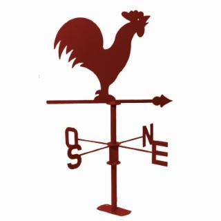 Girouette coq rouge foncé en métal