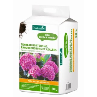Substrat pour plantes acidophiles en bacs 20L