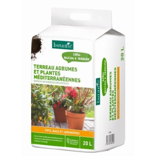 Terreau agrumes et plantes méditérranéennes 20L