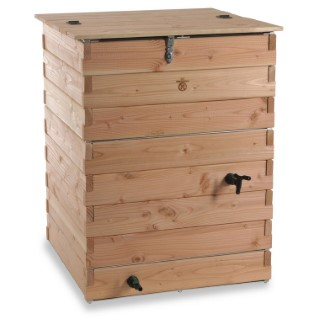 Recupérateur à eau en bois 500 litres
