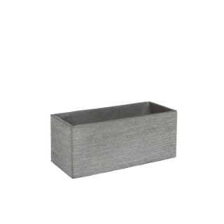 Bac rectangle STREAM S/3 gris clair l.36 x H.36 cm
