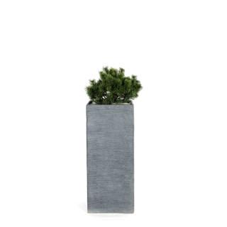 Pot carré haut STREAM S/3 anthracite H.70 cm