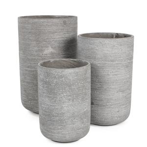 Pot rond STREAM haut Gris clair Ø.37 x H.60 cm