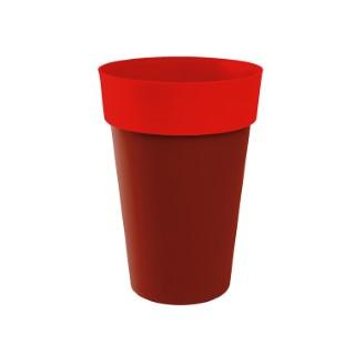 Vase haut STYLE Piment-Coquelicot D46 x H.65 cm