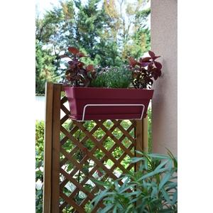 Support de jardinière blanc 35 cm 231245