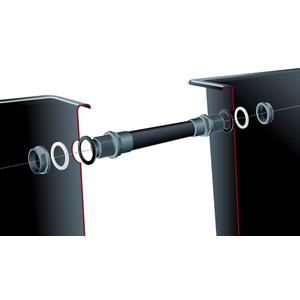 Quadra kit connection 2 x Ø 50 mm, 1 tuyau de raccordement L