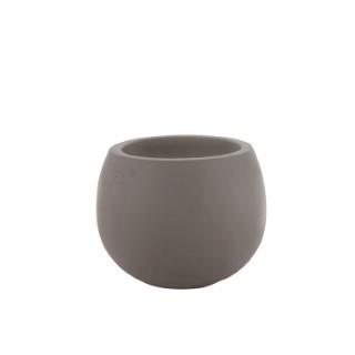 Vase Cosmos moka en terre cuite H 35 x Ø 35 cm