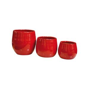 Pot Cancale coquelicot en terre cuite émaillée H 14 x Ø 14 cm 233185
