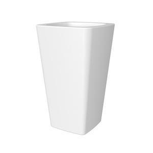Pot haut Glame H65,3 cm x d.39,2 cm blanc