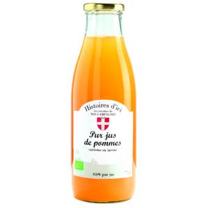 Jus de pomme Bio Savoie Histoire d'ici 75 cl