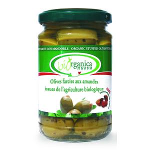 Olives farcies aux amandes.190 g BIOORGANICA