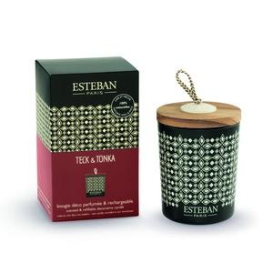 Bougie parfum Rechargeable Teck Tonka ESTEBAN 170 gr 234560