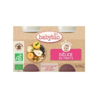Petits pots délice de fruits Babybio 2 x 130 g