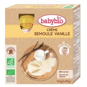 Gourde Crème Semoule Vanille bio 4 x 85 g BABYBIO