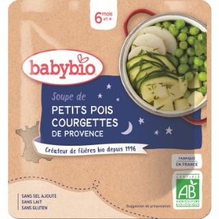 Soupe de petits pois et courgettes Babybio 190 g 248234