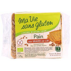Pain bio aux graines de lin 375 g MA VIE SANS GLUTEN