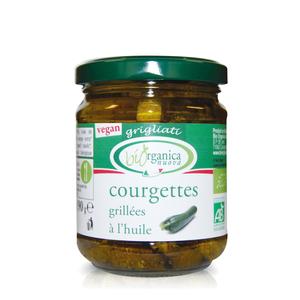 Courgettes grillées à l'huile.190 g BIOORGANICA