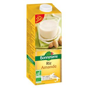 Boisson riz amande Dont 15% offert BONNETERRE