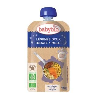 Gourde Bonne Nuit Légumes et Millet bio dès 6 mois - 120 gr